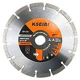 KSEIBI 641370 Premium 7 Inch Dry Wet Cutting Segmented Diamond Saw Blade with 7/8 Inch Arbor for Concrete Stone Brick Masonry