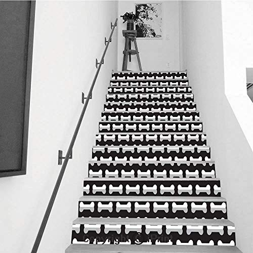 Stair Stickers Wall Stickers,13 PCS Self-Adhesive,Stair Riser Decal