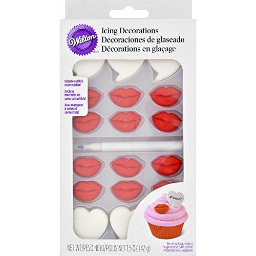 Wilton 710-6103 Valentine Cupcake Decorating Kit, Red