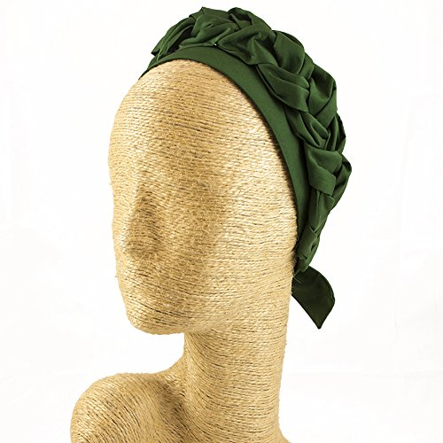 Fascinator, Silk Headbands, Milliner, Worldwide Free Shipment, Delivery in 2 Days, Customized Tailoring, Designer Fashion, Party Hat, Derby Hats, Hair braid, Head wrap, Boho Accessories, Green by Elipeacock