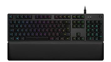 Logitech G513 - Teclado mecánico para Gaming con retroiluminación RGB e interruptores mecánicos Clicky, Carbon