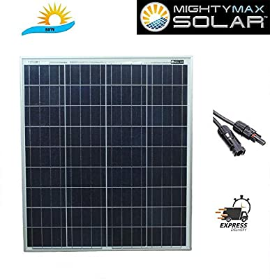 Mighty Max Battery 80 Watts Solar Panel 12V Poly Battery Charger for Trolling Motors Brand Product
