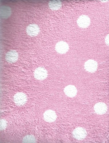 Printed Coral Contour Changing Table Cover Pnik with White Dots by Pem America