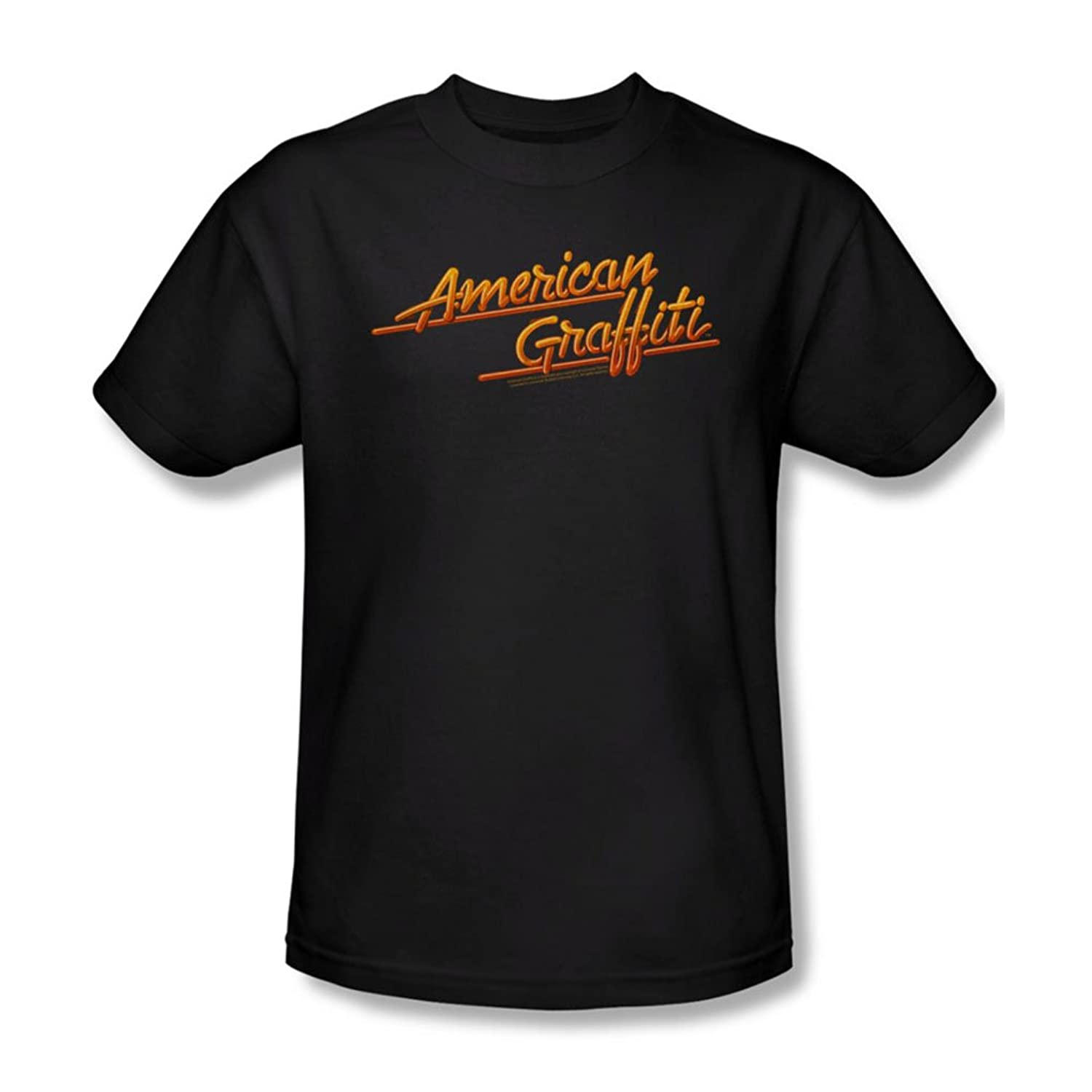 American Grafitti - Mens Neon Logo T-Shirt In Black