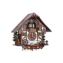 8-Day 12.6 in. Tall Black Forest House Cuckoo Clock