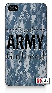 iphone covers Military Proud Army Girlfriend Digital Camo Blue Camouflage iPhone 6 plus Quality Hard Snap On Case for Iphone 6 plus 4G - AT&T Sprint Verizon - White Case Cover