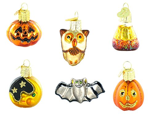 Old World Christmas Ornaments: Miniature Halloween Set Glass Blown Ornaments for Christmas Tree
