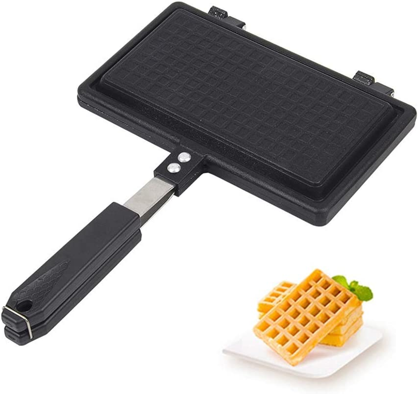 Gas Waffle Oven, Sandwich Toaster and Panini Press, Double-sided Double Slot Non-stick Cheese Toast Breakfast Pot Toast (Size : Style2)
