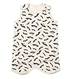 Trendy Apparel Shop 100% Organic Patterned Kid's Quilted Thermal Sleeping Vest - Bat - 2 Years