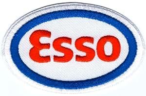 Aceite Esso automovilismo muestra símbolo emblema Logo bordado Sew hierro en remiendo smagtron-rígidapara boardado Badge