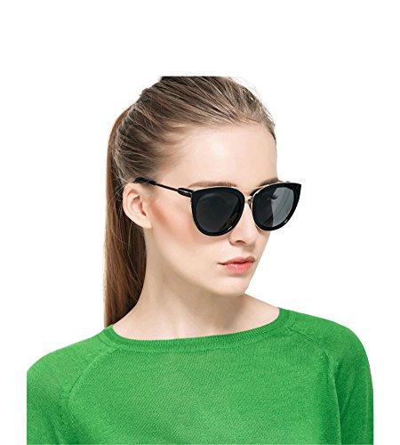 bbc32abbeb7 SPEEDM Polarized Cat Eye Mirrored Sunglasses With Metal Frame For Women  sunglasses (Black