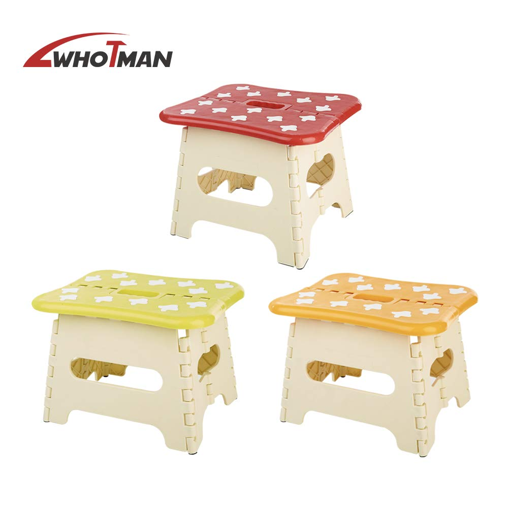 8 Inch Plastic Bear Non Slip Foot Stool For Kids Foldable Step Stool Great For Kitchen Bathroom Garden Wothman Portable Folding Step Stool With Built In Carry Handle Blue Step Stools Baby
