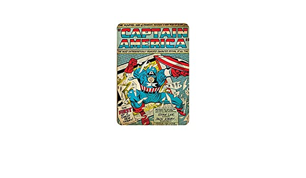 Batman Embossed Metal Switch Plate Home Decor and Much More Open Road Brands Vintage Retro Metal Tin Signs Wall Art Great for Man Caves
