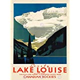 TRAVEL TOURISM LOVELY LAKE LOUISE CANADA ART PRINT POSTER BB9912