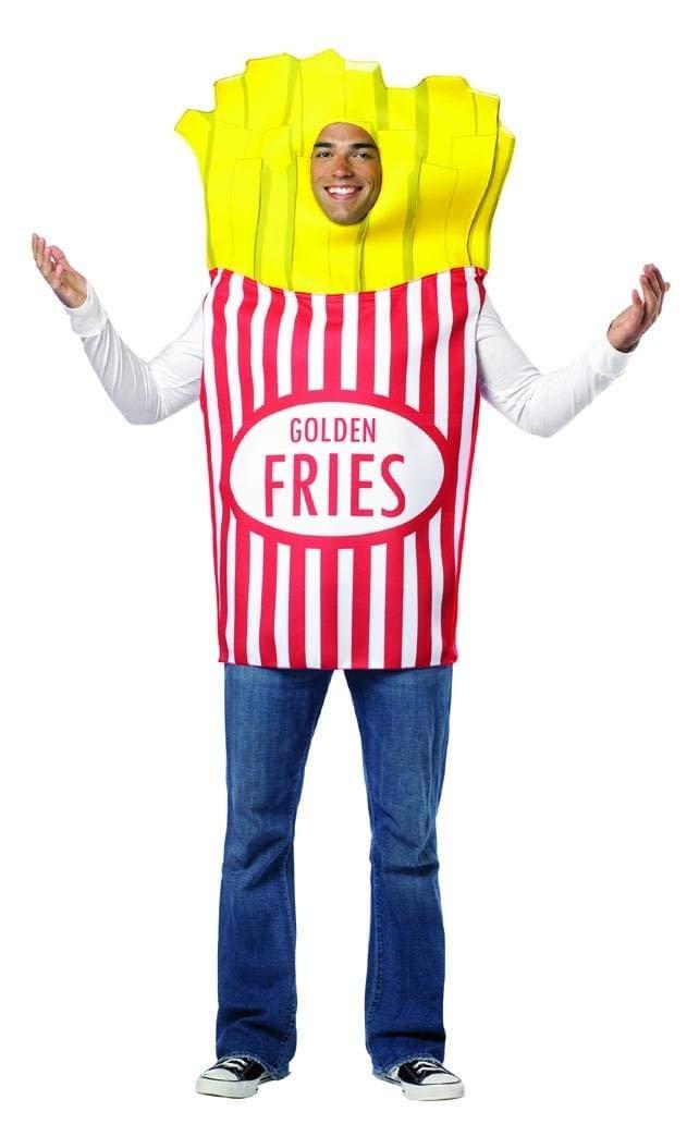 Rasta Imposta 7083 Mehrfarbiges Pommes-frites-Kostüm für Erwachsene (Einheitsgröße)