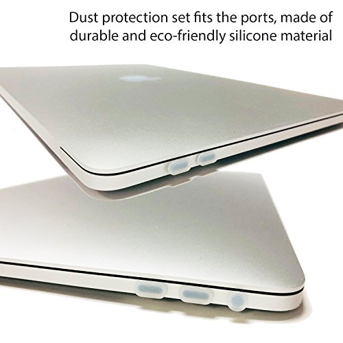 Homy Compatible Full Protection Kit for MacBook Pro 13 inch 2016, 2017, 2018 Keyboard Cover - Touch Bar Protector, Trackpad Protector, Webcam Anti-Spy Cover & Dust Plugs Port Protect A1706/A1989/A1708 by Homy international (Image #2)