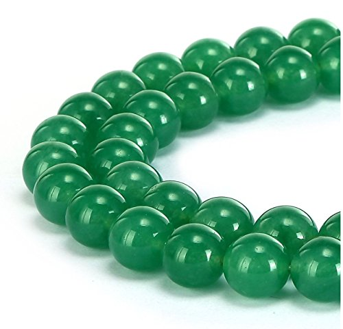 2 Strands Top Quality Natural Green Agate Gemstone Loose Round Beads 8mm Spacer Beads 15.5 inch per Strand 8GSE-8G - 2 Strand Spacer