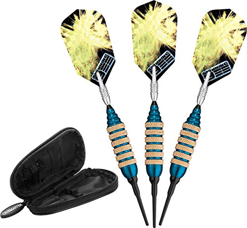 - Viper Spinning Bee Soft Tip Darts with Casemaster Storage/Travel Case, Blue, 16 Grams