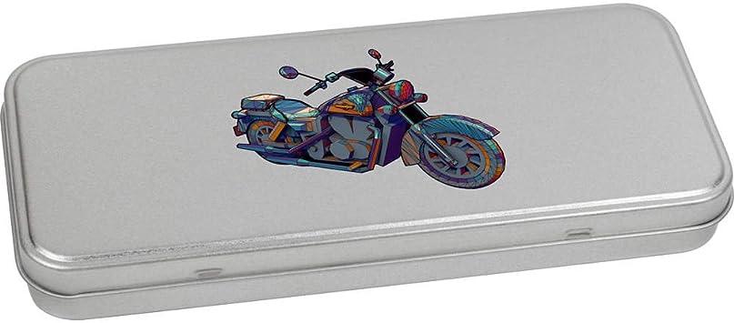 TT00098469 Azeeda 180mm x 75mm Moto bo/îte de Papeterie m/étal bo/îte de Rangement