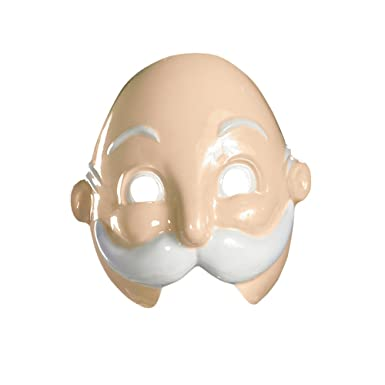 mr monopoly man vacuform mask one size adult halloween costume