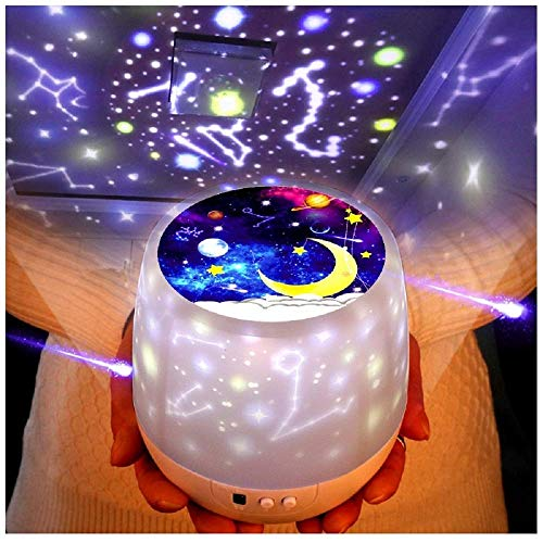 Kids Night Light, Universe Star Projector Lamp for Decorating Birthdays, Christmas, and Other Parties, Best Gift for a Baby's Bedroom, 5 Sets of Film from Tundas