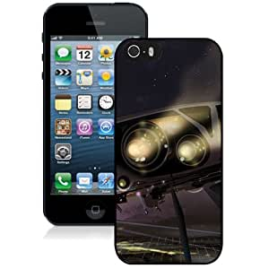 New Custom Designed Cover Case For iPhone 5S With Spaceship Fantasy Mobile Wallpaper Phone Case