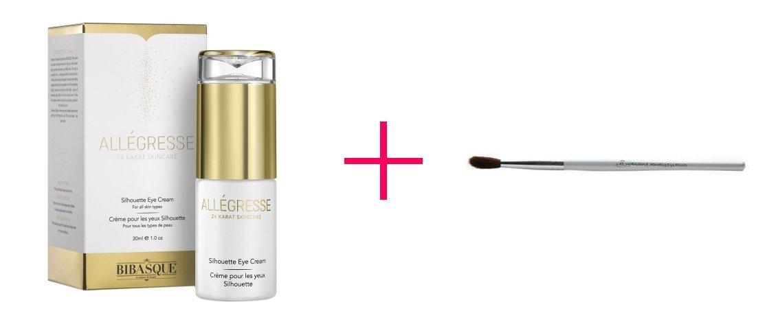 Allegresse 24K Gold Silhouette Eye Cream (2pc AND e.l.f. professional Blending Eye Brush - BUNDLE)