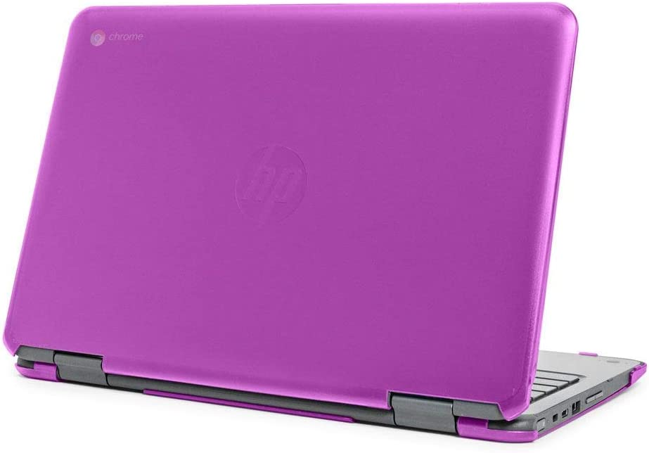 "mCover Hard Shell Case for Late-2019 11.6"" HP Chromebook X360 11 G2 EE laptops (Purple)"