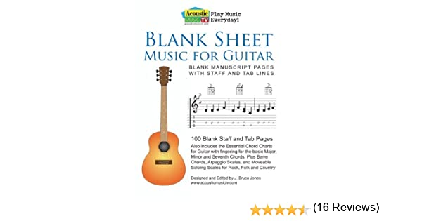 Blank Sheet Music for Guitar: Blank Manuscript Pages with Staff ...