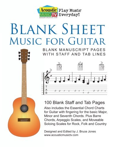 Buy Blank Sheet Music For Guitar Blank Manuscript Pages With Staff