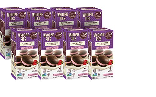 The Piping Gourmets Chocolate Raspberry Whoopie Pie, 8 Ounce (Pack of 08) Gluten Free & Vegan (Chocolate Piping)