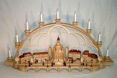 Erzgebirgische Weihnachtsdeko.Schwibbogen Altstadt Von Dresden 105 Cm Breit Elektr Beleuchtet