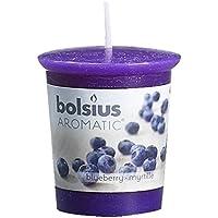 Bolsius–Vela aromática, diseño redondo, color azul