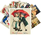 Vintage Christmas Greeting Cards 24pcs Christmas Children and Holy Angels Vintage Greetings Cards REPRINT Postcard Set