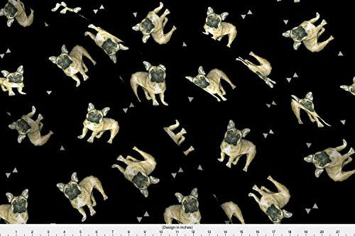 french bulldog fleece fabric - 4