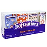 Nicole Home Collection Softsations Pocket Tissues 3-Ply Facial, 8-Pack