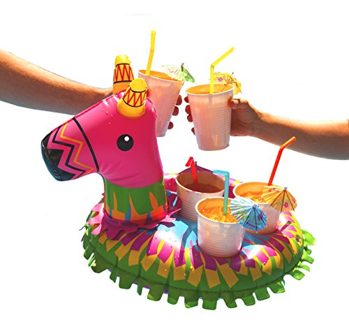 BigMouth Inc Inflatable Piñata Multi Drink Float, Holds 5 Drinks, Easy to Inflate, Fun, Colorful Floating Drink Cooler