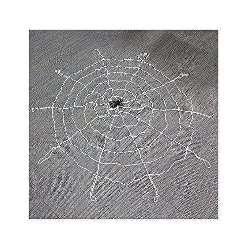 White 1.5M Giant Huge Halloween Spooky Spiders Webbing Web Decorations