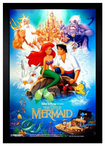 The Little Mermaid Disney Movie 24x36 Framed Poster