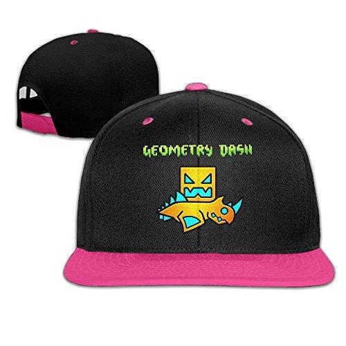 HIPHOP White Adjustable MDLWW Geometry Dash Hats For Men