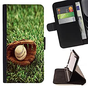 Super Marley Shop - Leather Foilo Wallet Cover Case with Magnetic Closure FOR Samsung Galaxy Note 3 III N9000 N9008V N9009- MLB Baseball Sport USA