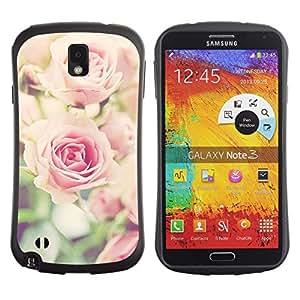 LASTONE PHONE CASE / Suave Silicona Caso Carcasa de Caucho Funda para Samsung Note 3 N9000 N9002 N9005 / rose vignette pink floral spring nature