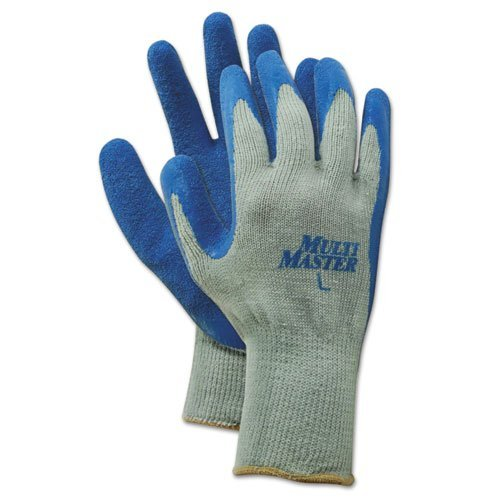 ボードウォーク9529lゴムPalm手袋、グレー/ブルー、Lサイズ、1ダース B06X9GN3D2