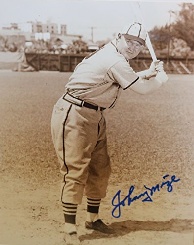 (Johnny Mize Signed Autographed Glossy 8x10 Photo St. Louis Cardinals - COA Matching Holograms)