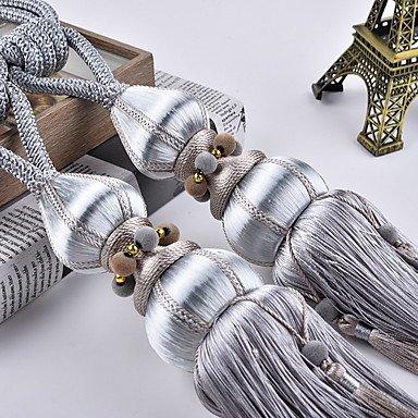 Curtain Accessories Tassel//Tie Back Luxury//Modern 2Pcs,Silver