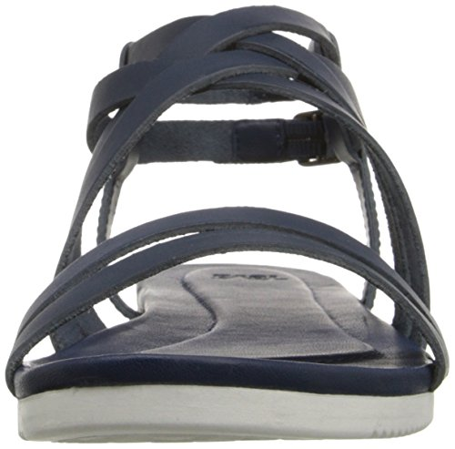 Navy TevaAvalina Sandali Crossover Blu Atletica da W's Leather Donna Cvpfvq