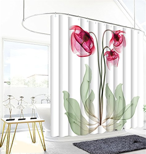 Shower Curtain Aesthete Blossom Flowers Floral Art Print Pol