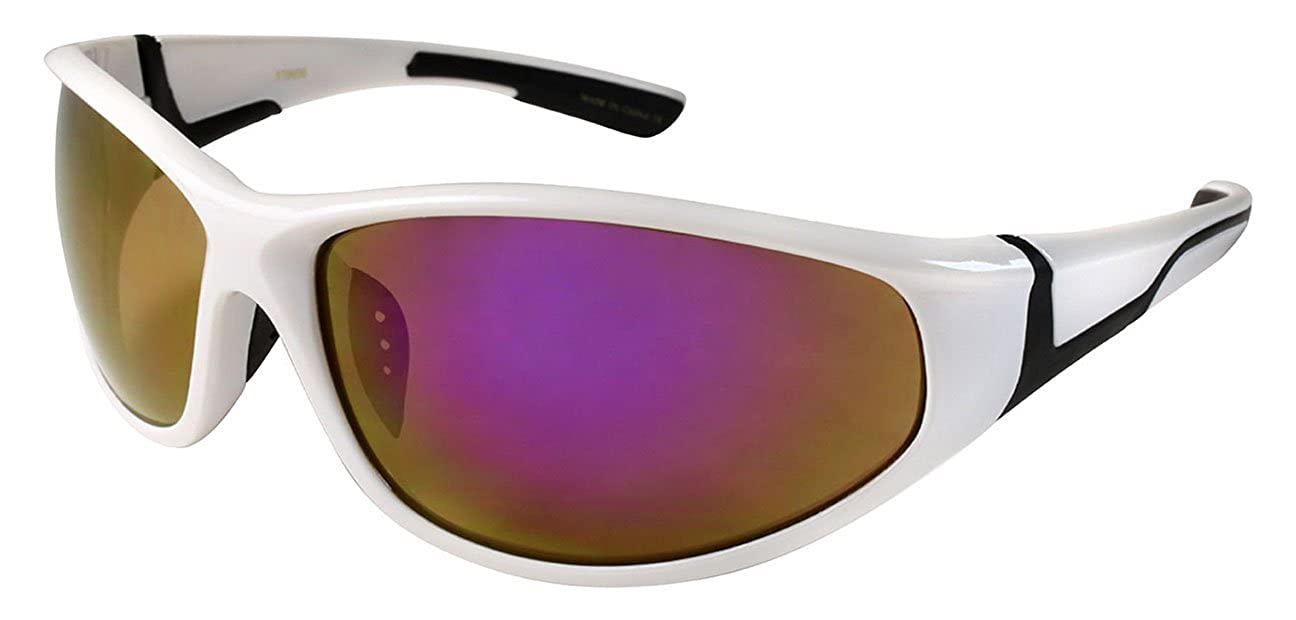 Edge I-Wear Sports Sunglasses with Color Mirrored Lens 570030AM-REV