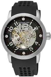 Stuhrling Original Men's 1070.33161 Classic Delphi Adonis Automatic Skeleton Black Rubber Strap Watch