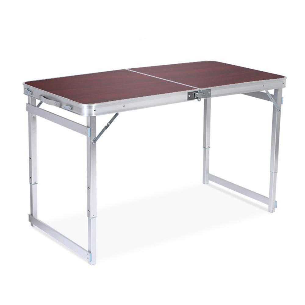 Gimitunus Bequemer Klapptisch - höhenverstellbare Aluminium-Verformungstisch für Den Innen- und Außenbereich